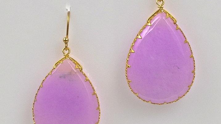 Lavender Agate Drop Earrings