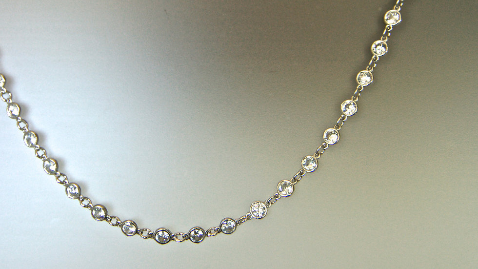 "36"" Diamonesque Chain Necklace hanging"