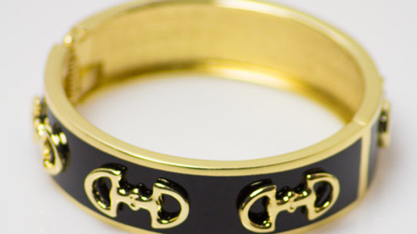 Small Black Equestrian Bracelet