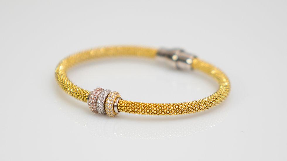 Silver Diamonesque Bracelet gold