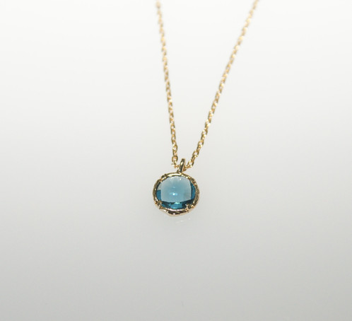 Small round gem pendant pearls west palm beach united states small round gem pendant blue 1 aloadofball Images