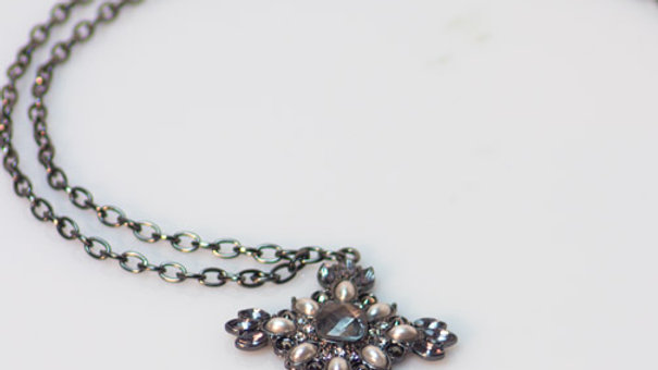 Long Chain with Pearl Cross