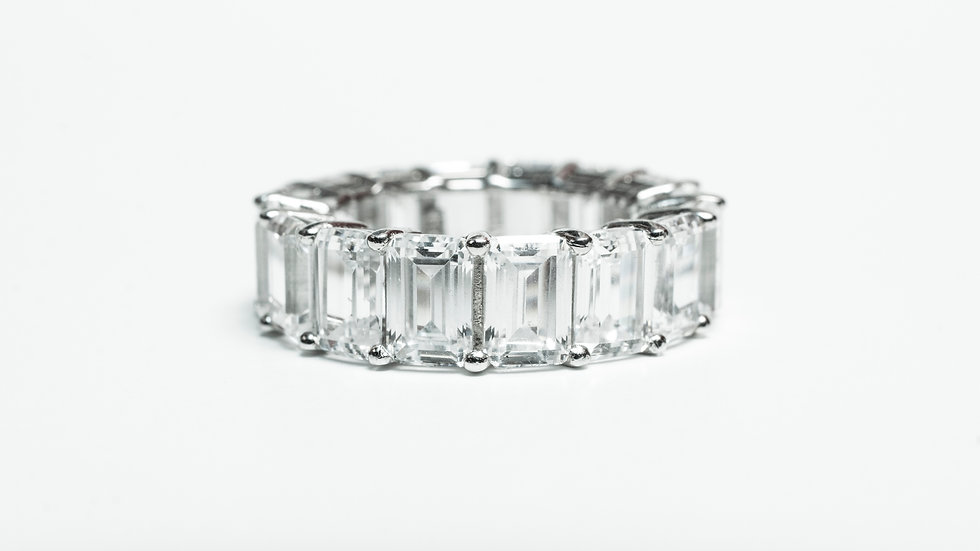 Infinity Rectangle Ring front
