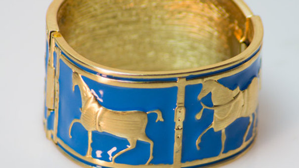 Large Royal Blue Equestrian Cuff