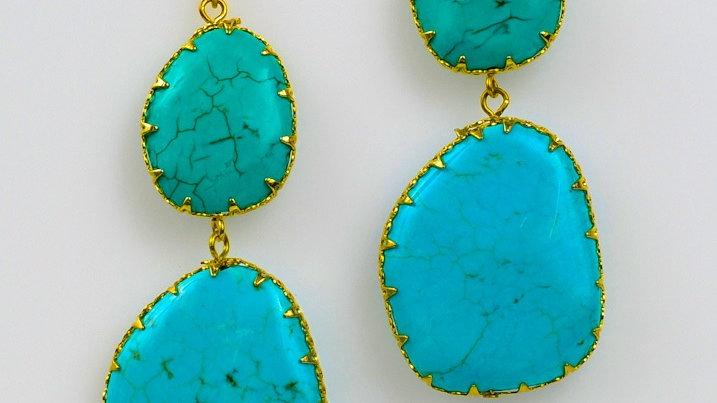 Turquoise Double Drop Earring