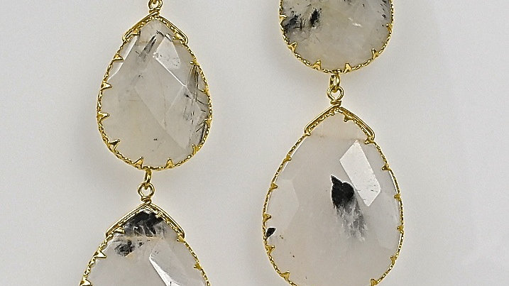 Rutilated Quartz Drop Earring