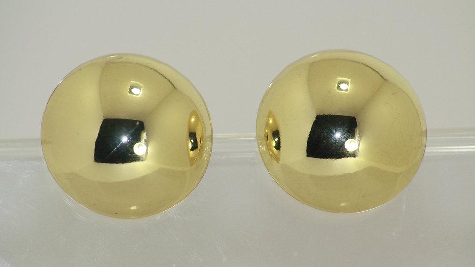 Half Ball Gold Clip-on Earrings