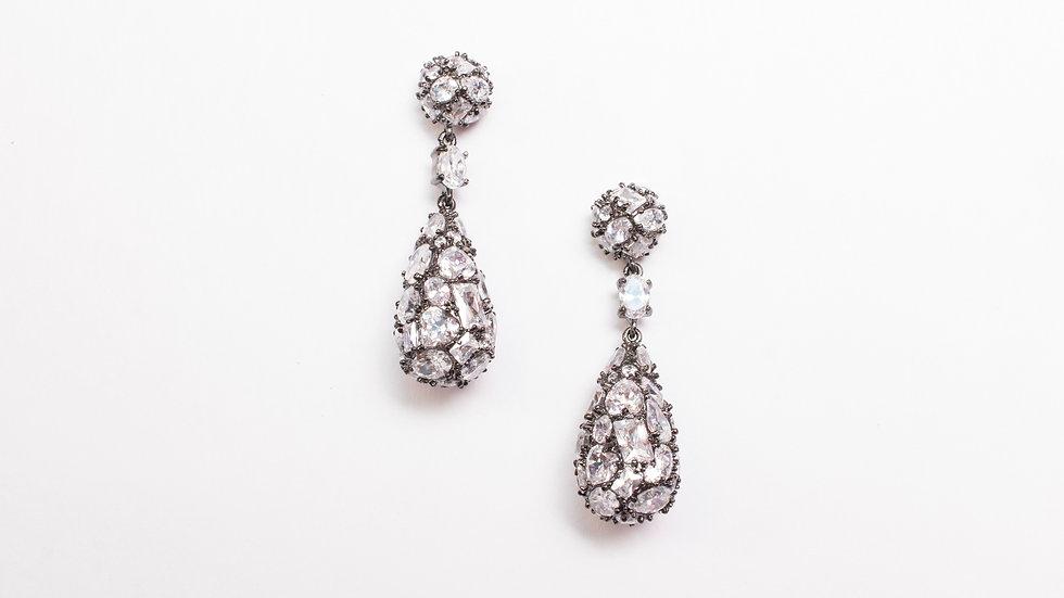 CZ Narrow Drop Earrings