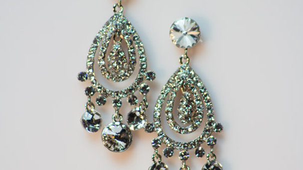 Crystal Chandelier Earring with Silver