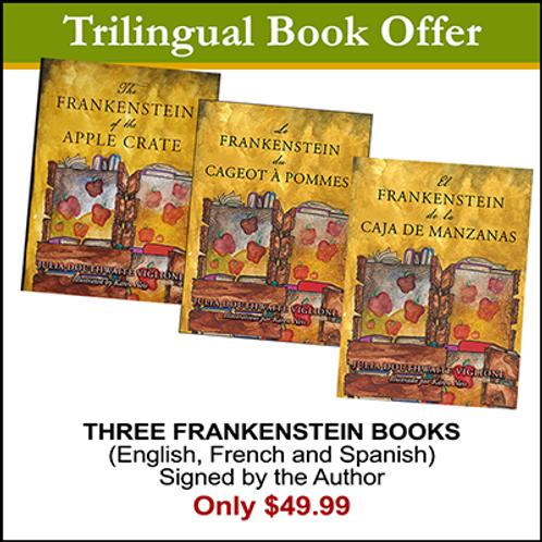 Trilingual Frankenstein book package