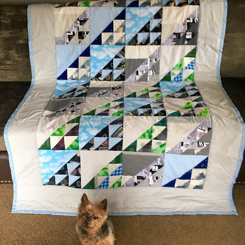 """""""Western Pacific"""" Ready-made Quilt"""