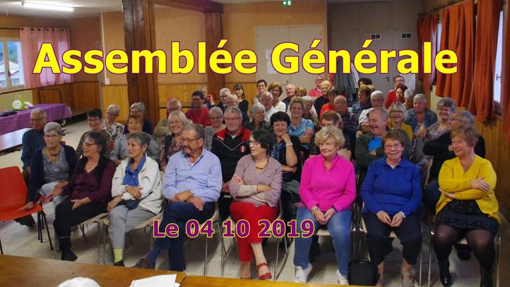 Assemblée Générale [ Le 04/10/2019 ]