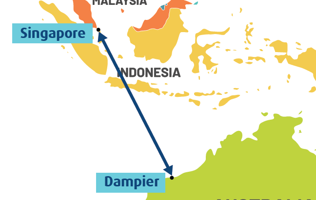 Sea Swift launches new international shipping service between WA and Singapore