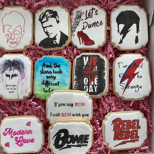 David Bowie Sugar Cookies - 1 Dozen