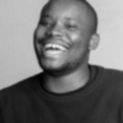 young black man smiling