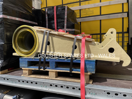 Crusher Spares manufacture Pegson Metrotrack Jawstock for customer in Brazil.