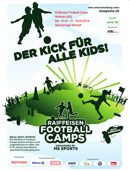 Flyer Raiffeisen Football Camp Rothrist