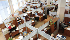 Does having an 'open' office floor increase personal communication?