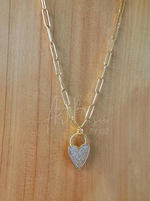 Collar Corazón Zirconias