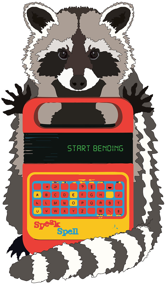 Racoon with a Speak & Spell - ghistix labors