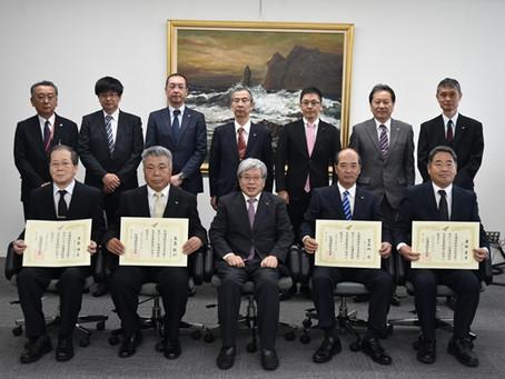 2018/07/02 澤田孝幸先生に本学名誉教授の称号が授与されました