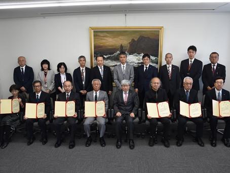 2019/07/09 三澤先生に本学名誉教授の称号が授与されました