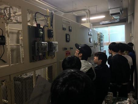 2018/06/12  大学電気設備の見学会を行いました