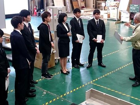 2018/10/19 「札幌地区電気電子機器関連企業見学ツアー」に電気電子工学科の学生と教員が参加しました