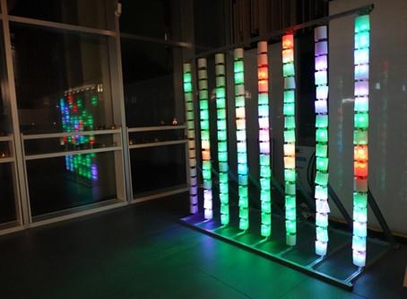 2019/12/18 夢プロジェクト e²club presents による作品を中央棟に展示しています