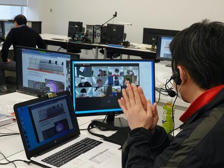 2020/11/28 電気電子工学科の教員・学生を中心スタッフとしてとしてオンライン講座を実施しました
