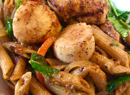 BROWN BUTTER SCALLOPS & PASTA