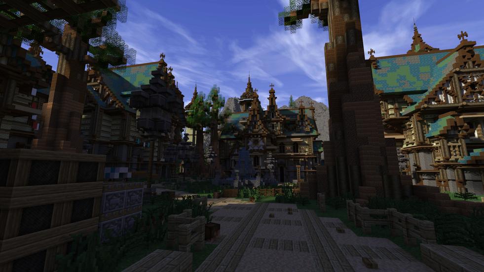 Inner Render of Azure's main town.