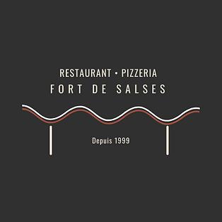 logo restaurant pizzeria du fort de salses