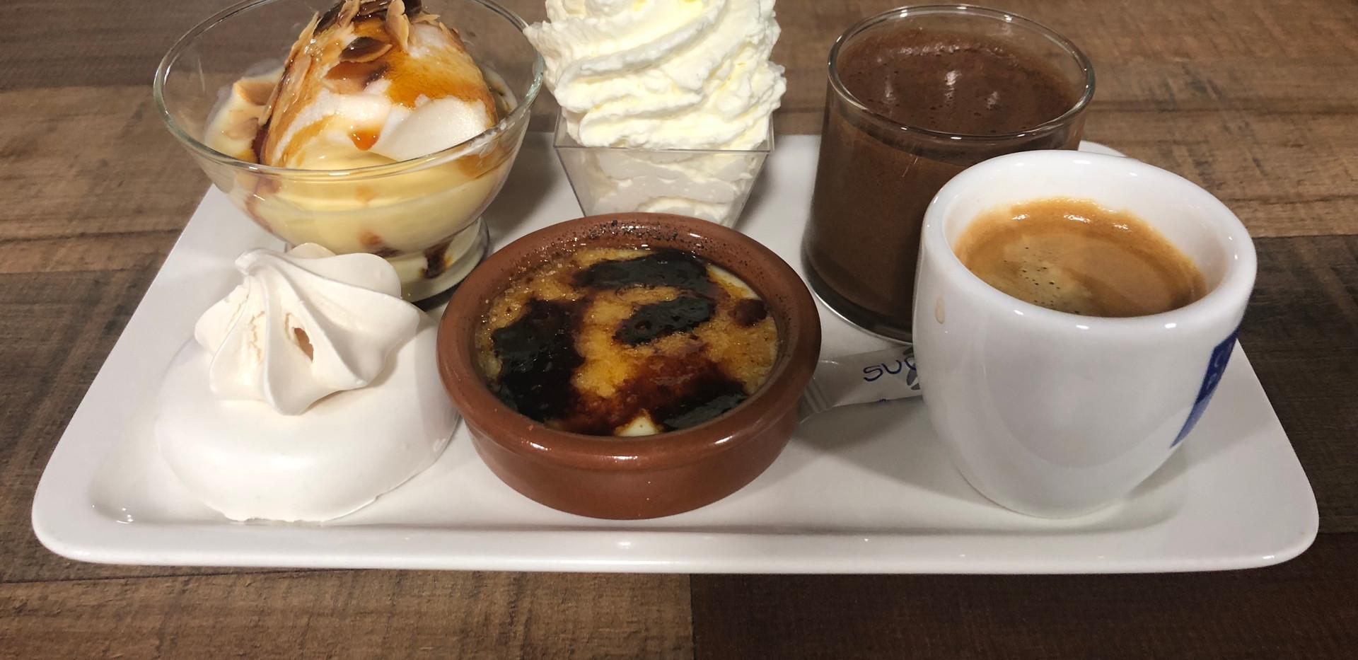 Café gourmand du Restaurant Pizzéria du Fort de Salses