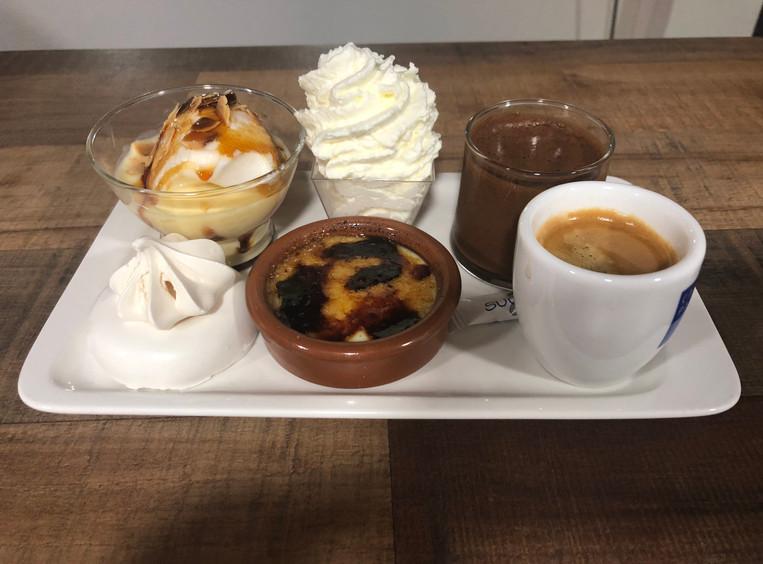 Café gourmet en el restaurante pizzería Fort de Salses