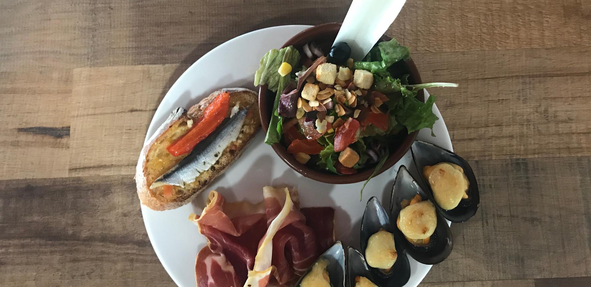 L'assiette de dégustaion catalane
