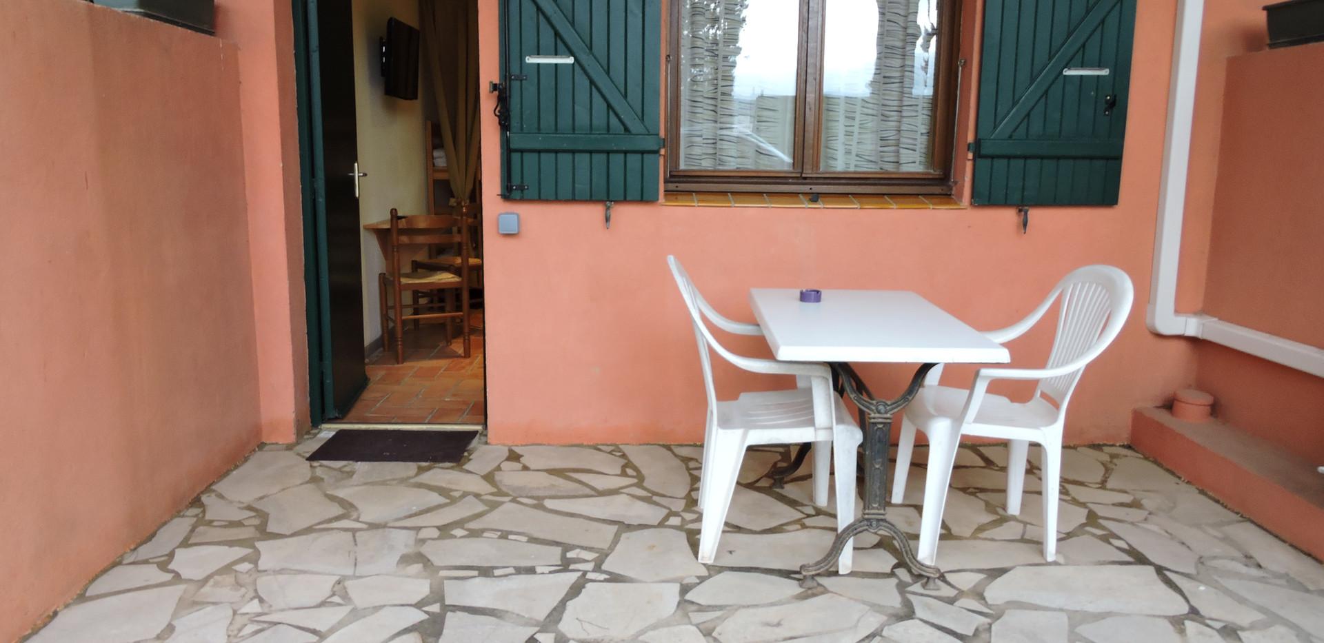 Terrasse privative de la chambre 7 de l'Hôtel La Casa Nova