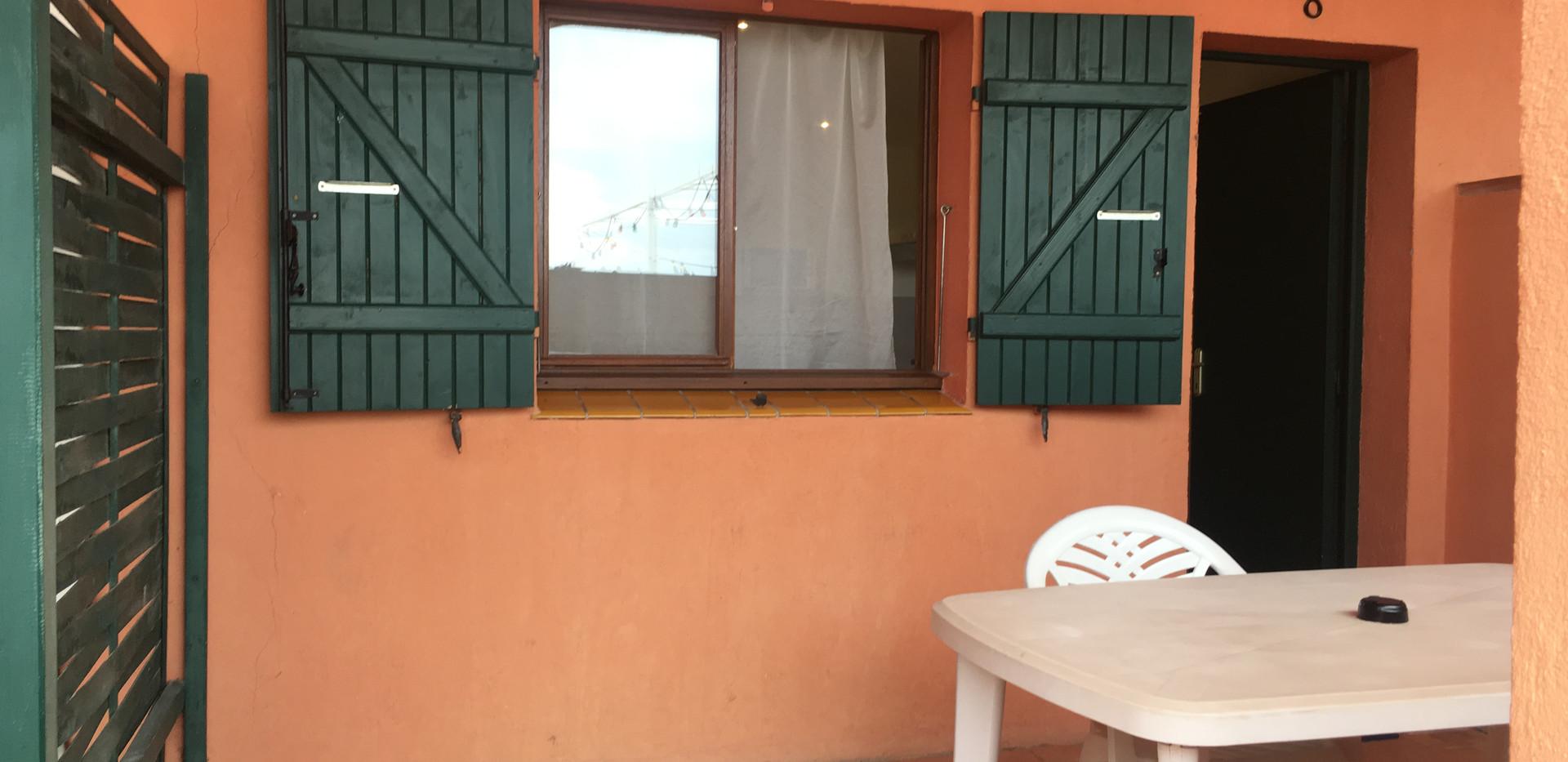 Terrasse de la chambre 5 de l'Hôtel La Casa Nova