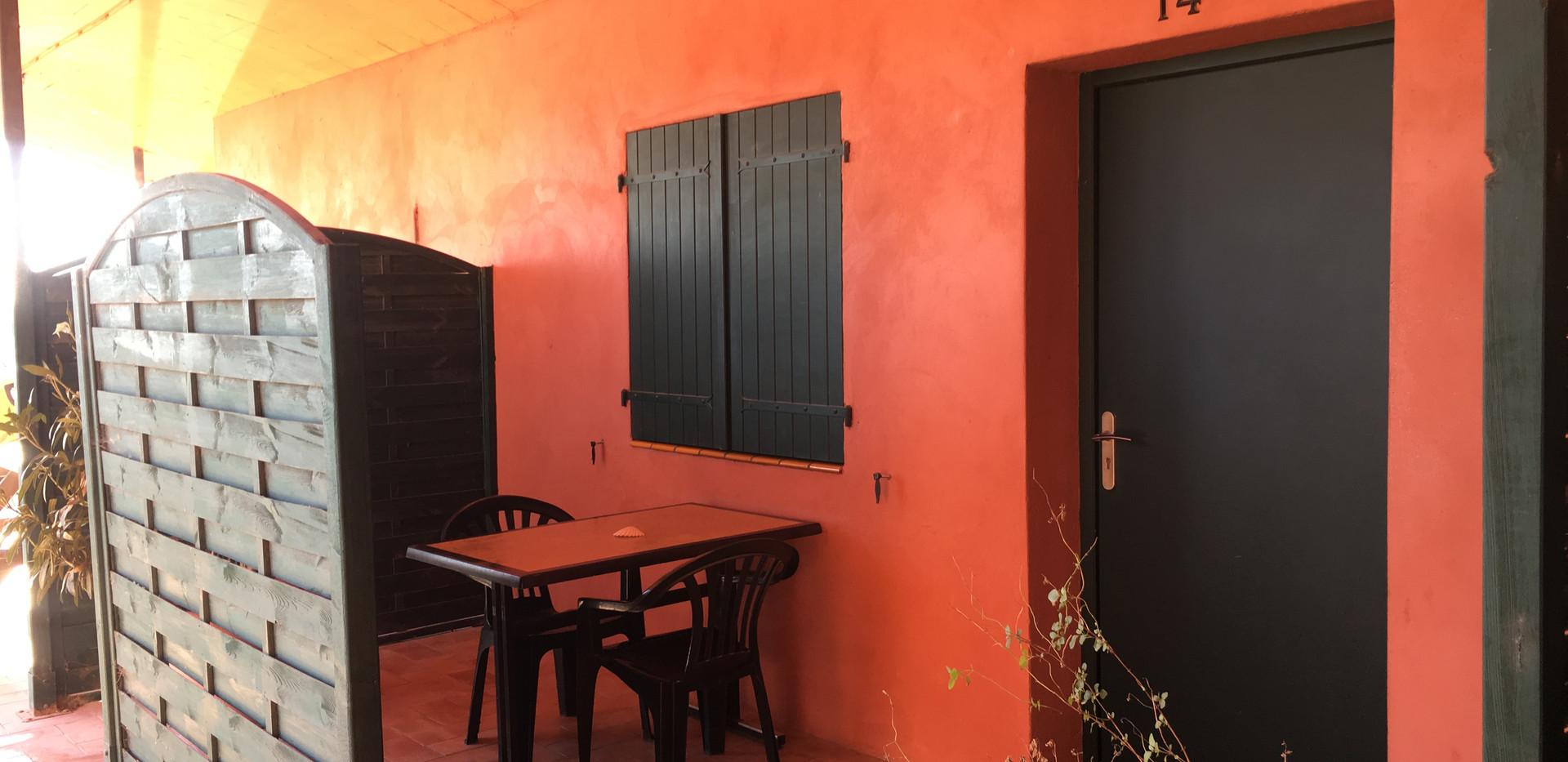 Terrasse de la chambre 14 de l'Hôtel La Casa Nova