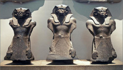 Three Egyptians no noses, rest of us intact