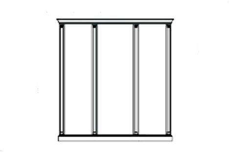 Комплект карнизов для 3-х панелей - широкой и двух узких Venezia белая