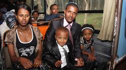 Ethiopian Jews family