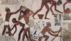Egyptian slaves painting
