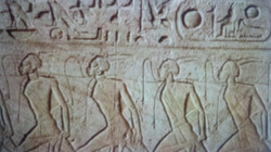 RAMSES II Sphinx Egyptian slaves carving closer