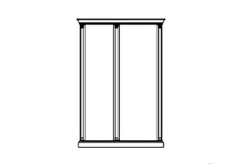 Комплект карнизов для 2-х стеновых панелей: широкой и узкой Venezia белая