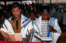 young black jew worshipping