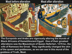 Maat painting before and after