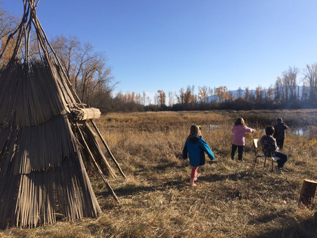 Primary Students at the Tipi