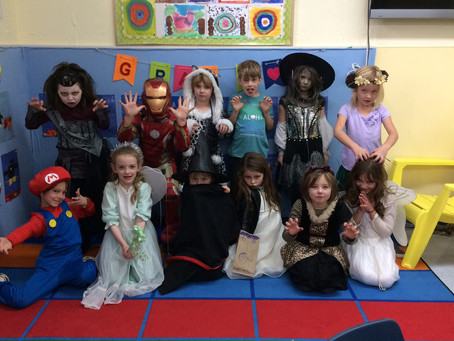 Halloween and an Important Visitor in Grade 2