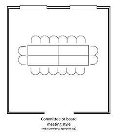 room layout - committee or board meeting